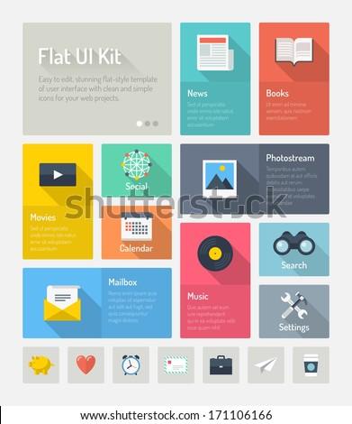 flat design modern vector