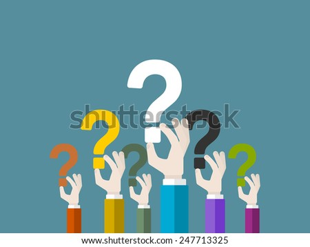 Colorful free vector question marks download free vector art
