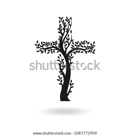 flat design of black christian