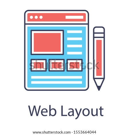 flat design of web interface as a web layout icon