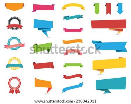 flat design of web stickers ...