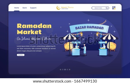 flat design of welcome to bazar