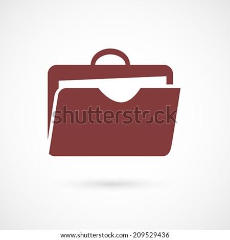 Flat design portfolio icon for web and mobile application design. Vector illustration