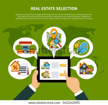 flat design real estate online