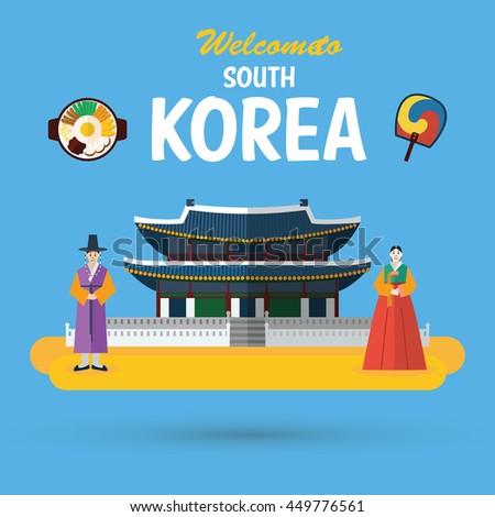 flat design  south korea