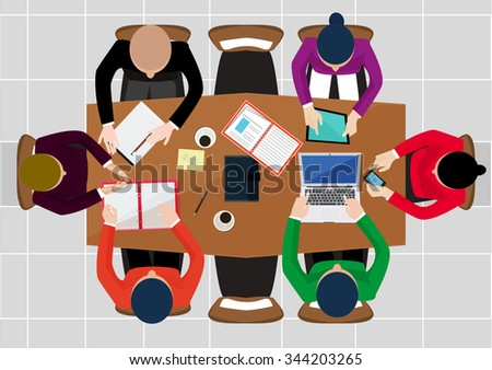 Free Business Table Meeting Vector Download Free Vector Art
