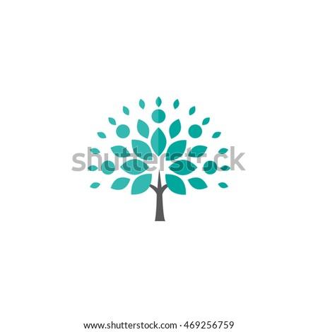 flat design tree