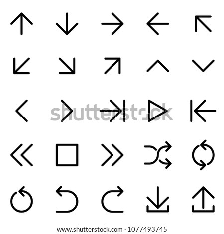 Flat design vector arrow icon set. #1077493745