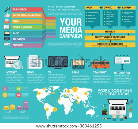 Infographic tv ad