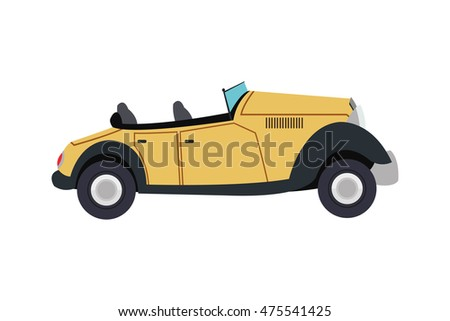 stock-vector-flat-design-vintage-convertible-car-icon-vector-illustration
