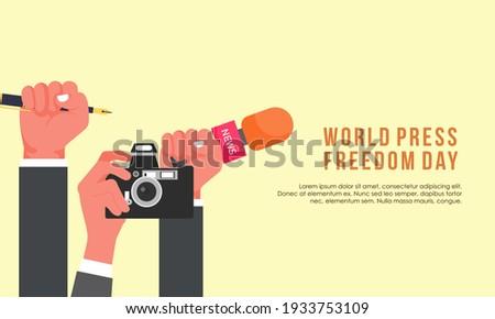 Flat design world press freedom day illustration Foto stock ©