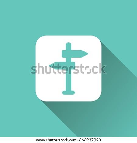 flat Direction icon