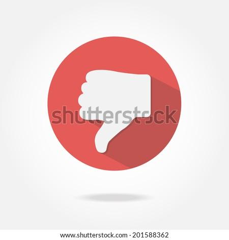 Flat dislike icon.
