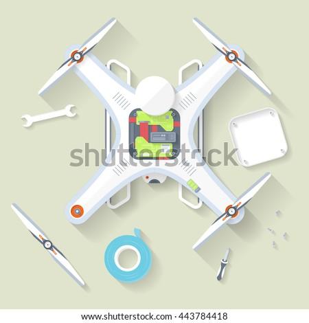 flat drone
