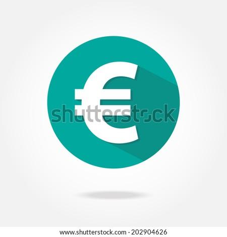 flat euro icon