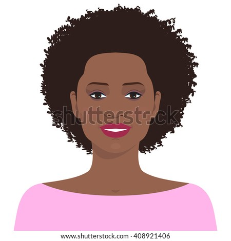 flat female face avatar of