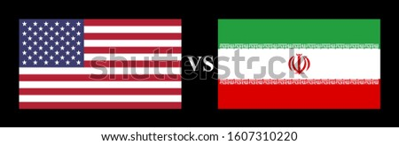 flat flag usa vs iran