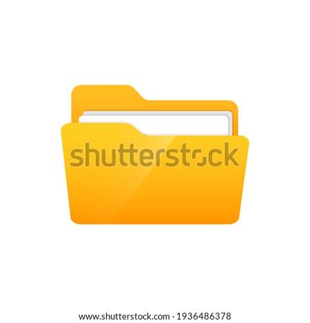Flat folder icon vector illustration