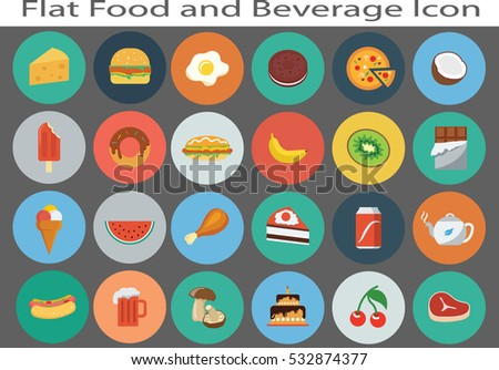flat food and beverage  icon