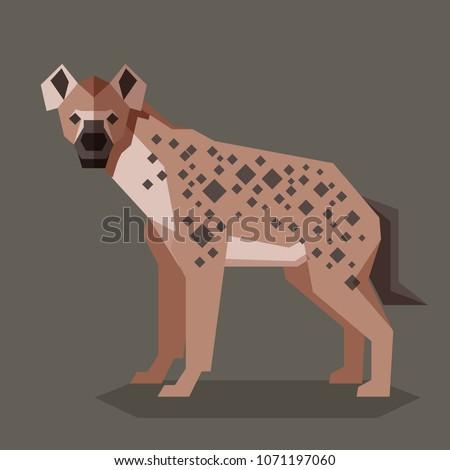 Flat geometric Hyena