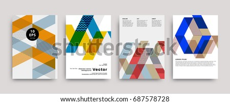 flat geometric pattern covers