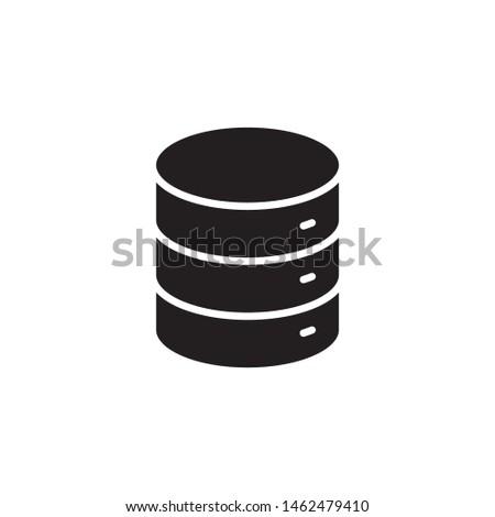 flat glyph data, server, database, web storage icon symbol sign, logo template, vector, eps 10