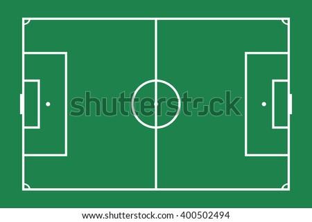flat green grass  football