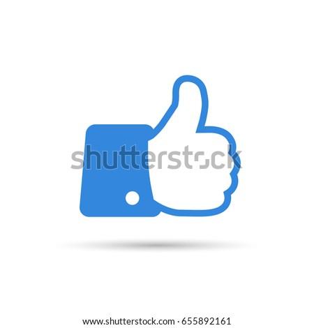 Flat Hand Like Icon
