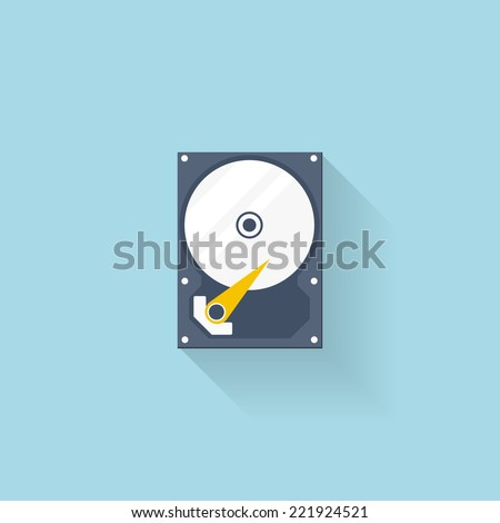 flat hard drive disk icon for