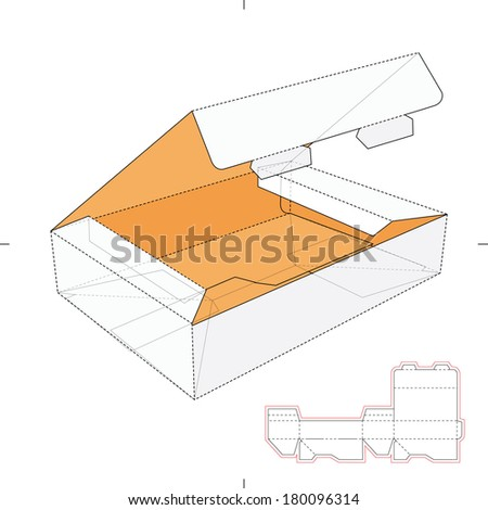Flat Horizontal Boxes with Die-Cut Pattern
