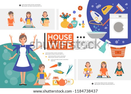 Flat Housewife Life Template