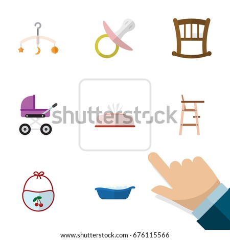 flat icon baby set of mobile