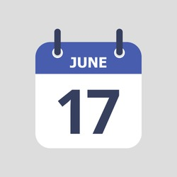 Flat icon calendar isolated on gray background. Vector illustration.