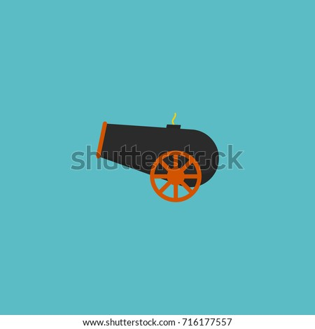 flat icon cannon element