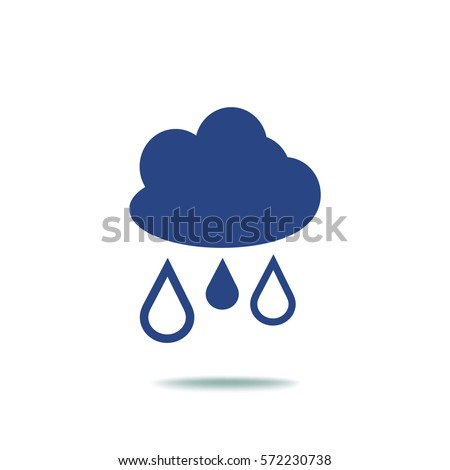 flat icon cloud and drops
