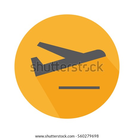 Flat Icon Departure Sign With Plane In The Airport For Travel