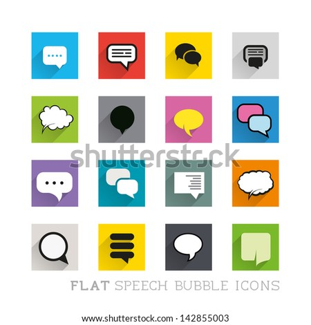 Flat Icon Designs Speech bubbles Layered vector illustration