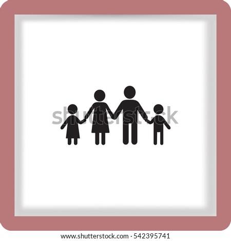 Flat icon family.