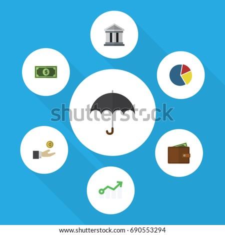 flat icon finance set of graph