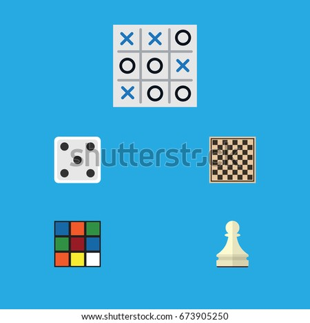 flat icon games set of x o