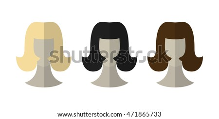 flat icon hairstyles blonde