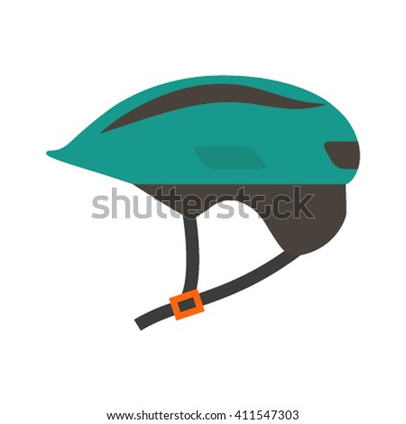 flat icon helmet isolated on