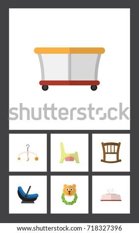 flat icon infant set of