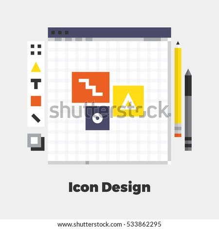 flat icon material design