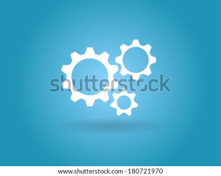 flat icon of gears
