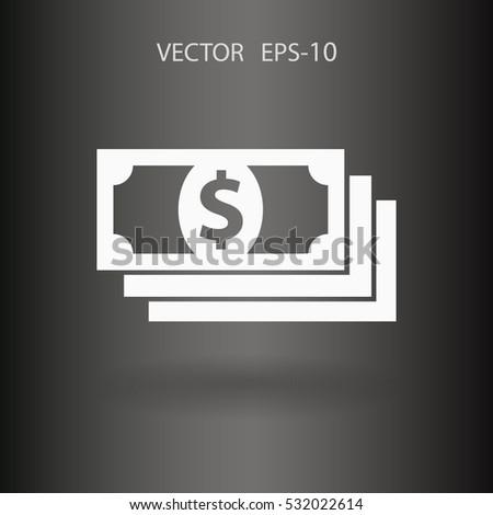 Flat icon of money. vector illustration