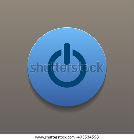 Flat icon of power. Flat design style eps 10 #403534558