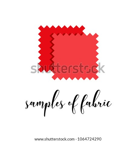 Flat icon of red textile with calligraphy word