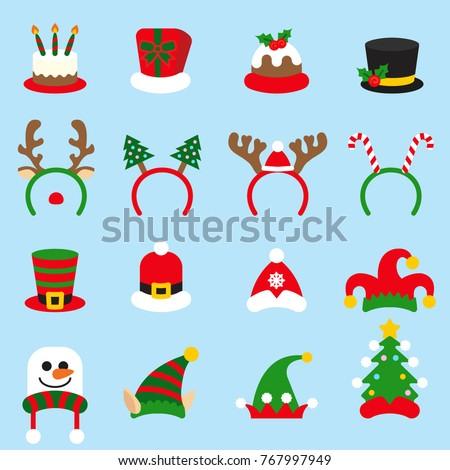 flat icon set christmas