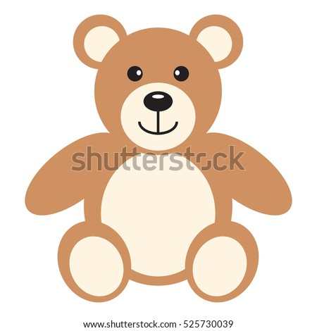 flat icon teddy bear vector